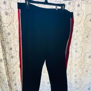 Zara Track Style Pants Size XL Red/White Stripe